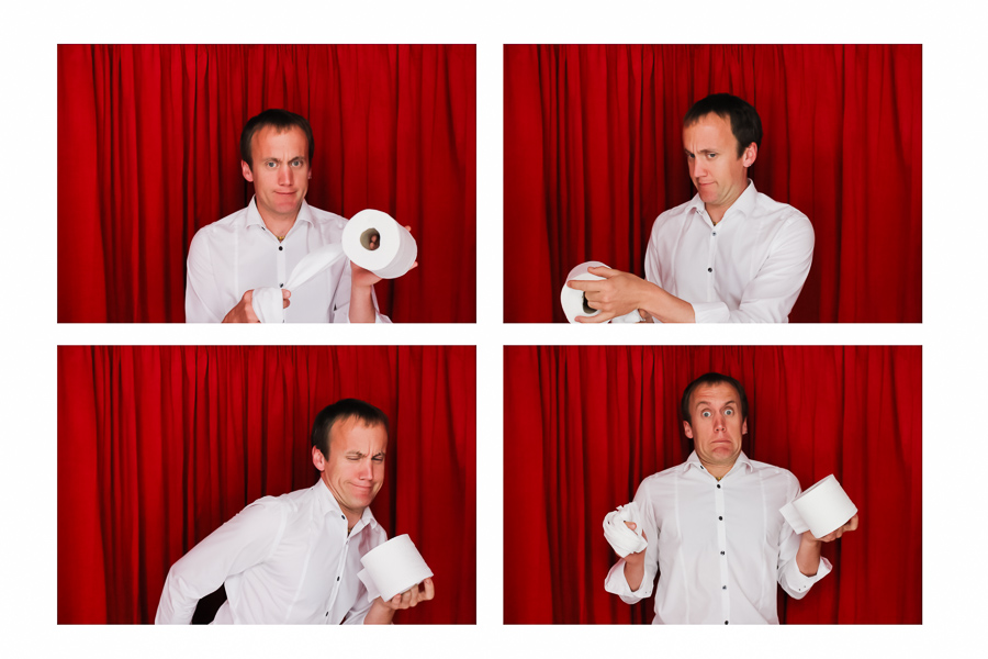 Toilet roll photo booth selfie