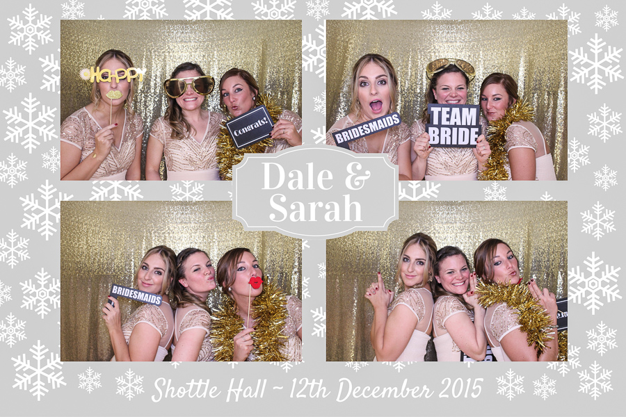 bridesmaids in the booth at shottle hall